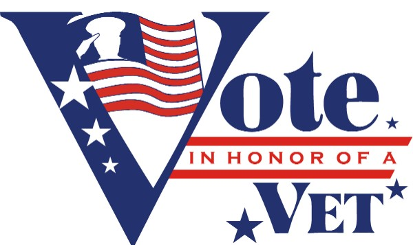 This a picture of the Vote in Honor of a Vet Logo